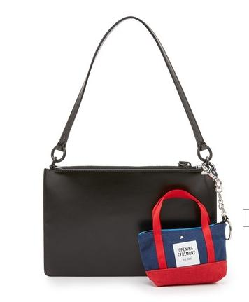Opening Ceremony Zip Clutch with Tote Bag Charm @ shopbop.com