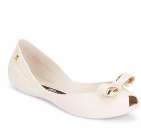 Melissa Queen IV Peep-Toe Flats @ Saks Off 5th