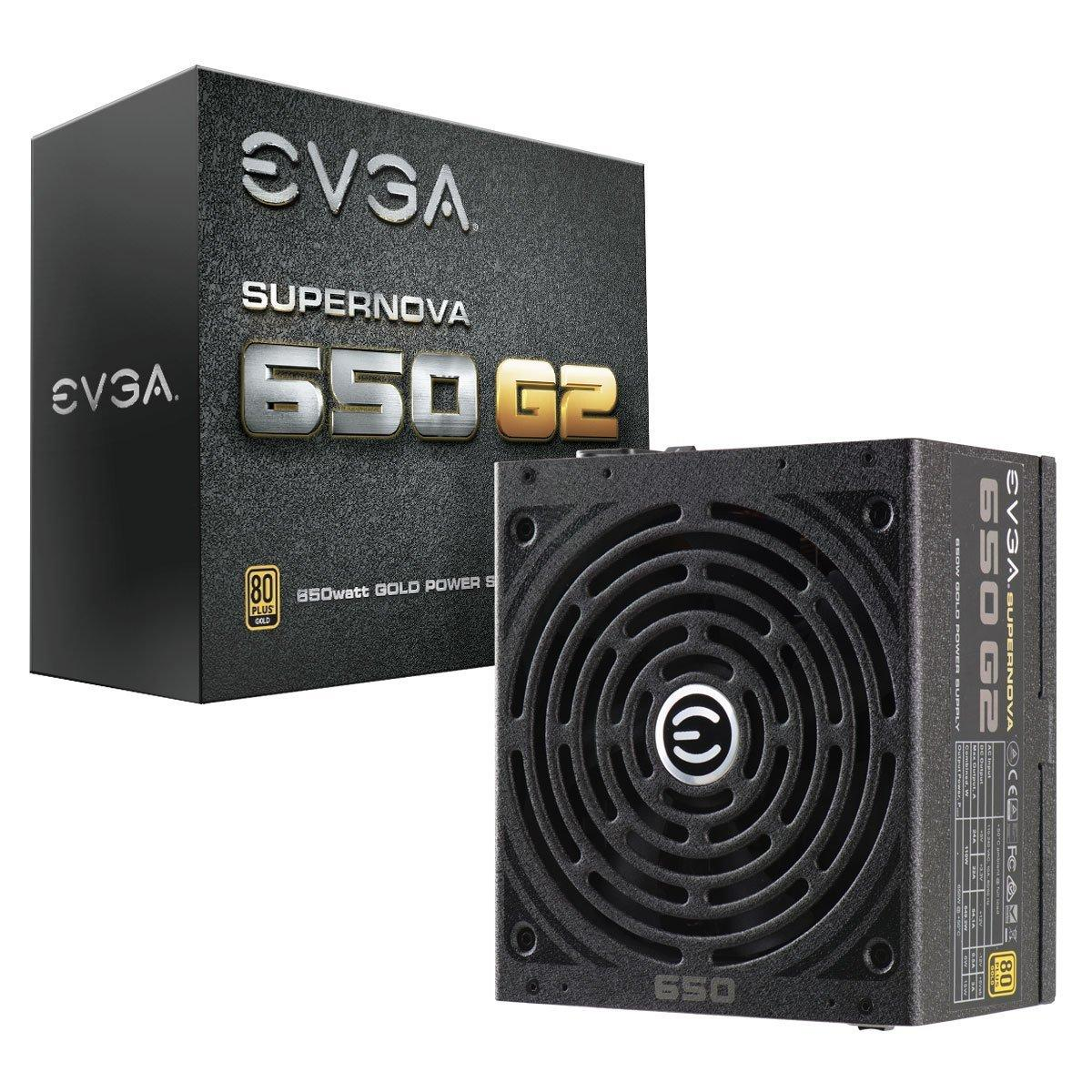 EVGA SuperNOVA 650 G2 80 Plus Gold Rated, Fully Modular ATX PSU