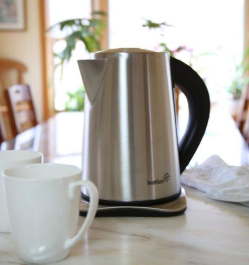 Ivation 1.7 Liter(7-Cup) Precision-Temp Stainless Steel Cordless Electric Tea Kettle