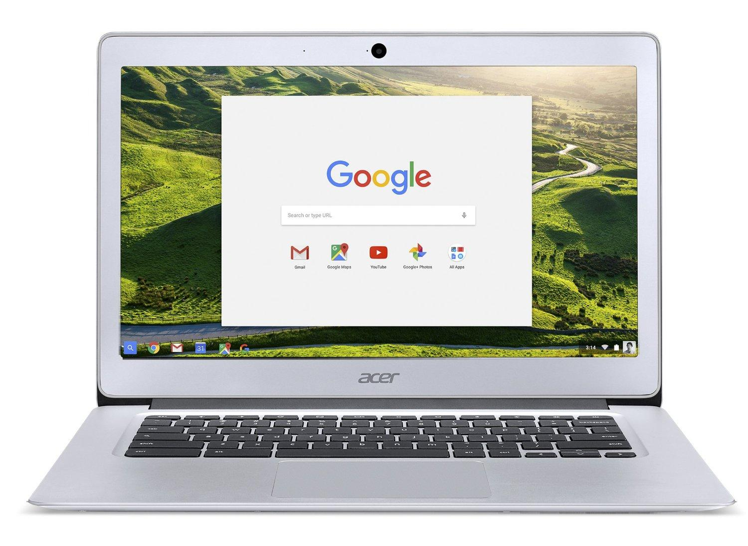$273.99 Acer Chromebook 14, Aluminum, 14-inch Full HD, Intel Celeron Quad-Core N3160, 4GB LPDDR3, 32GB