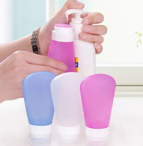 $7.36 RockBirds SL89 Portable Soft Silicone Travel bottles Set, FDA Certificated (3 OZ)