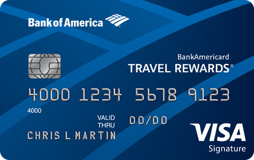 20,000 Online Bonus Points After Required SpendBankAmericard Travel Rewards® Credit Card