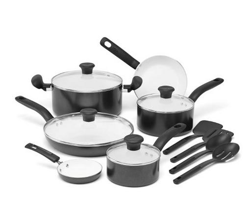 $55.99 T-fal C921SE 14-Piece Cookware Set