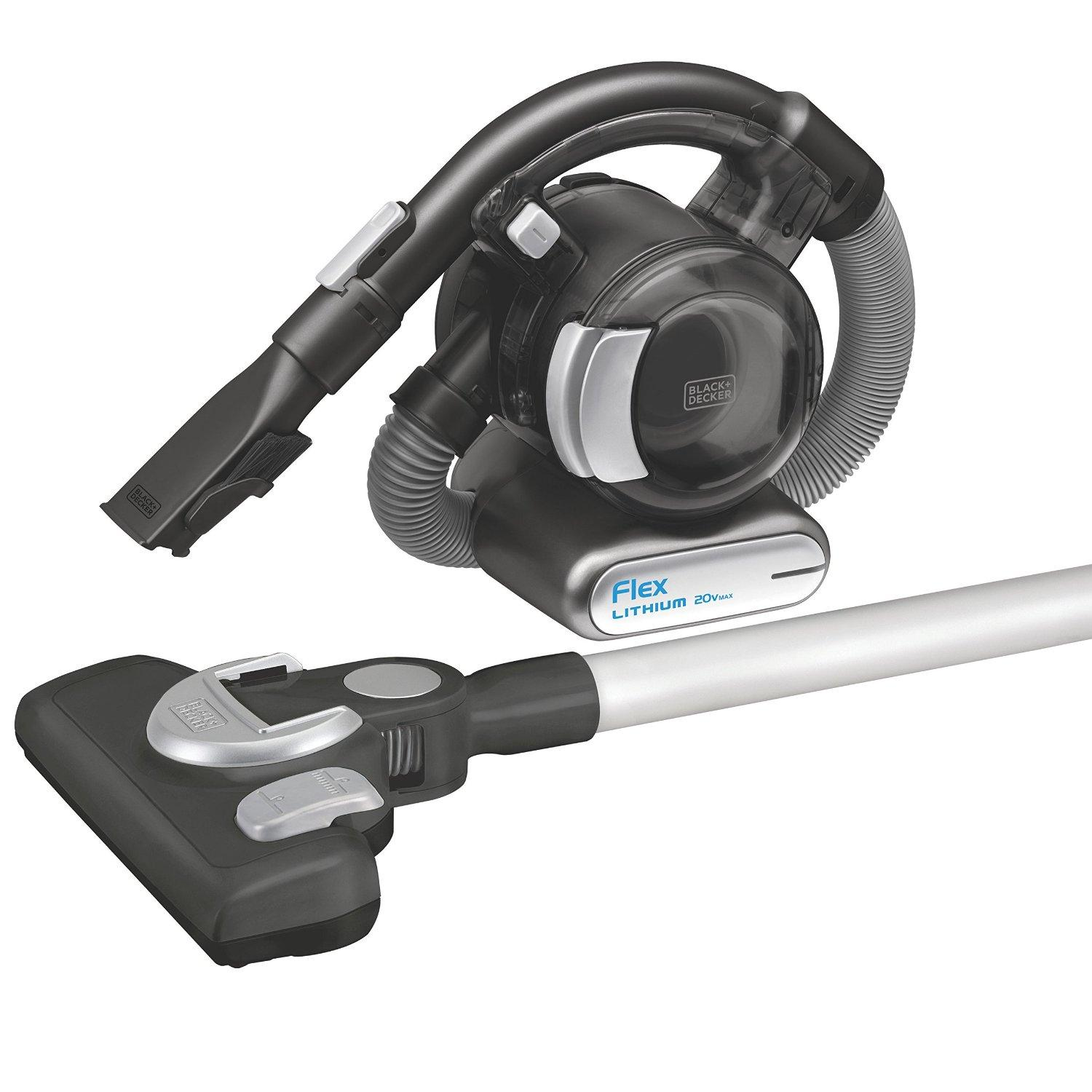 BLACK+DECKER BDH2020FLFH MAX Lithium Flex Vacuum with Stick Vacuum Floor Head and Pet Hair Brush, 20-volt