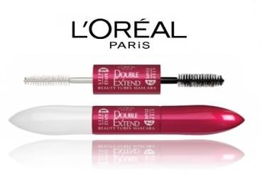 $6.81 L'Oreal Paris Double Extend Beauty Tubes, 0.33-Fluid Ounce