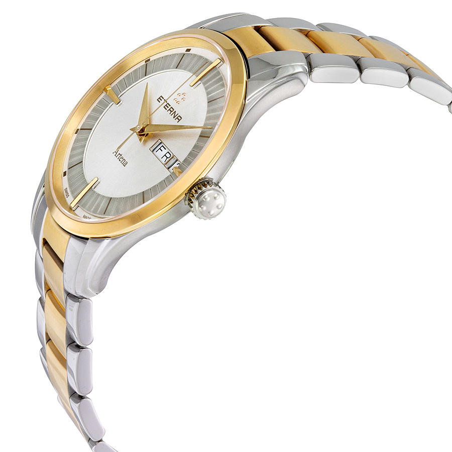 ETERNA Artena Gents White Dial Two-tone Men's Watch@JomaShop.com