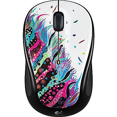 $9Logitech M325 Wireless Mouse, Black and Blue Facet