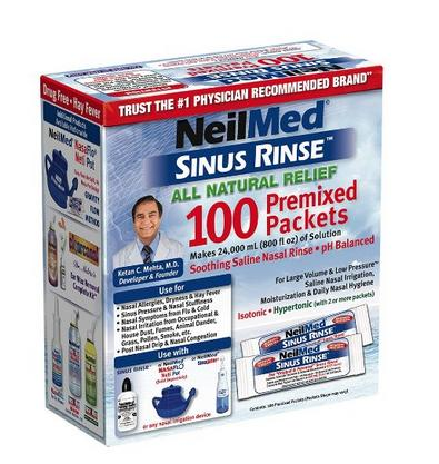 NeilMed's Sinus Rinse Pre-Mixed Packets, 100-Count Boxes