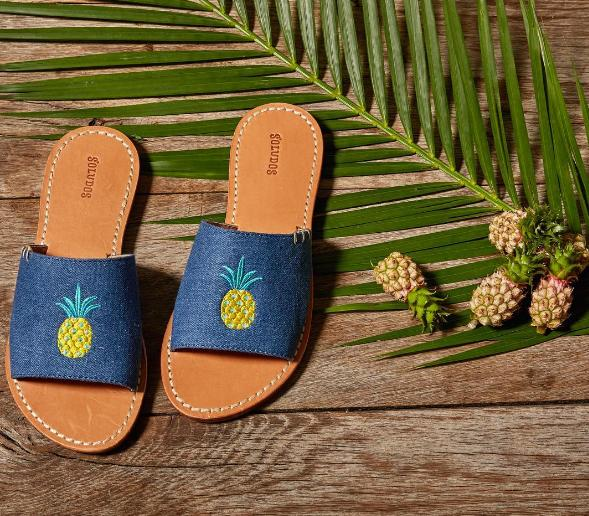 Soludos Slide Sandal Embroidery