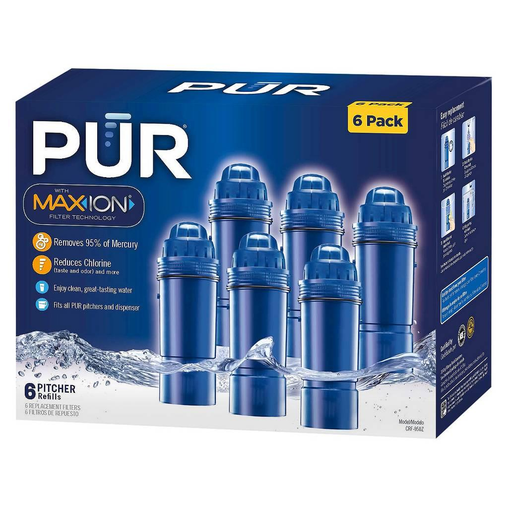 PUR Water Pitcher Replacement Filters 6-Pack