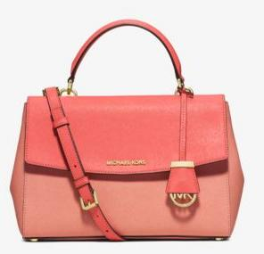 MICHAEL Michael Kors Ava Medium Color-Block Saffiano Leather Satchel