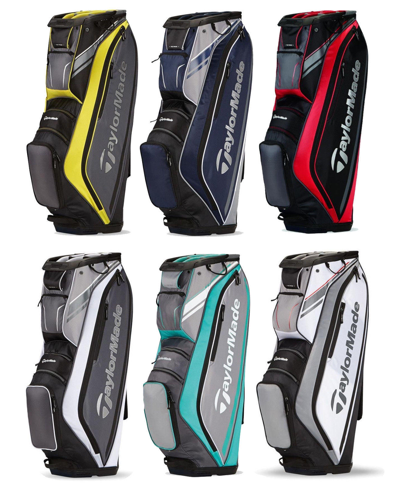 TaylorMade San Clemente Cart Bag - Golf Cart Bag - 6 Color Options - 2015 Model
