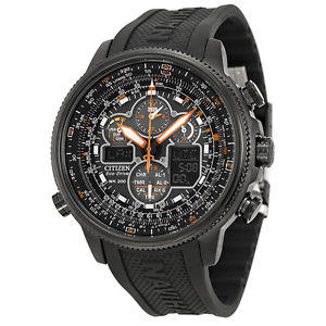 Citizen Navihawk A T Black Dial Black Rubber Mens Watch JY8035