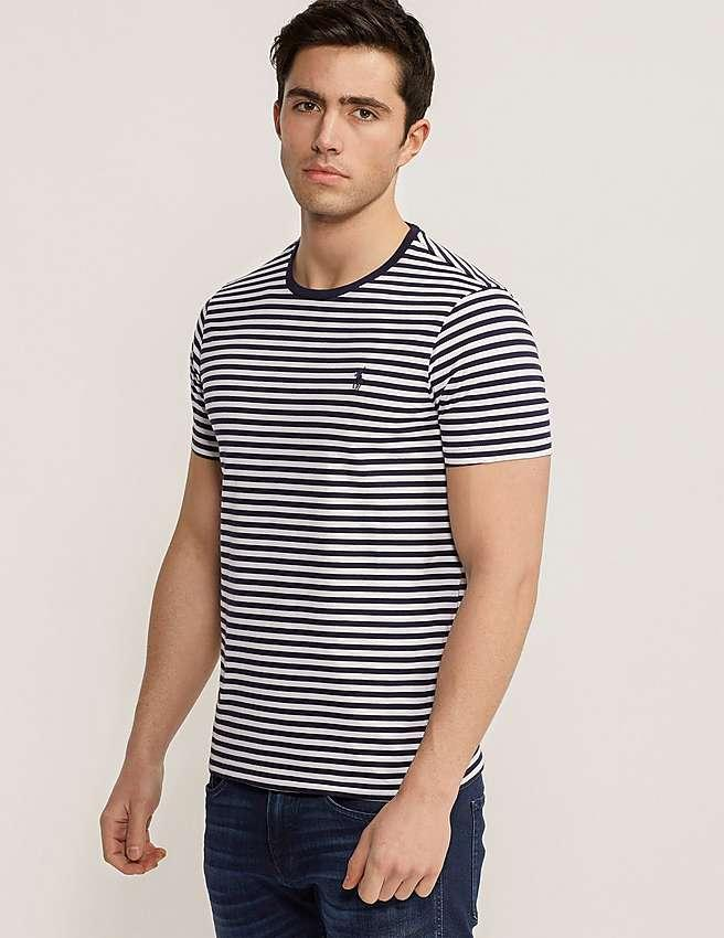 Polo Ralph Lauren Men's Striped Short Sleeve Crew Neck T-Shirt