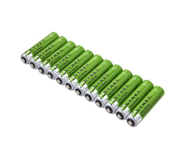 Dynex Rechargeable AAA Batteries (12-Pack) - Green/Silver