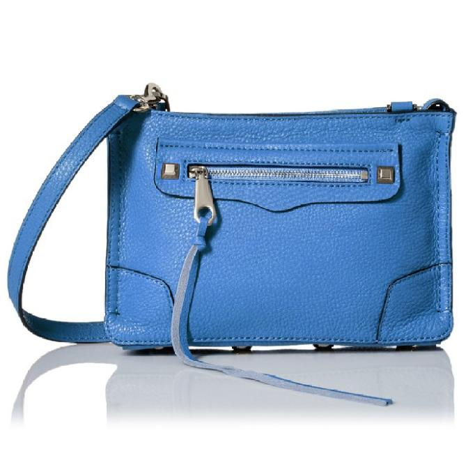 $89.11 Rebecca Minkoff Regan Cross Body, Denim Blue, One Size