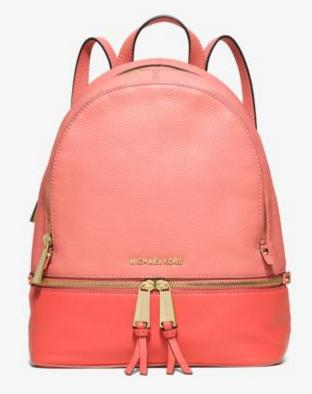 MICHAEL Michael Kors Rhea Medium Color-Block Leather Backpack