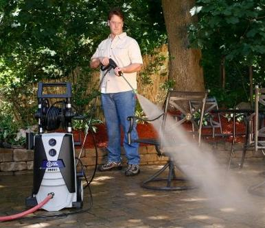 AR Blue Clean AR390SS 2000 psi Electric Pressure Washer with Spray Gun, Wand, 30' Hose & 35' Power Cord
