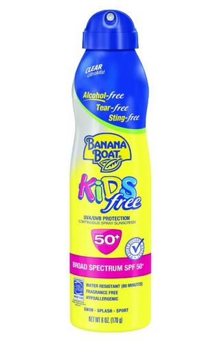 $6.35 Banana Boat Sunscreen Kids Ultra Mist Tear-Free Sting Free Broad Spectrum Sun Care Sunscreen Spray - SPF 50, 6 Ounce