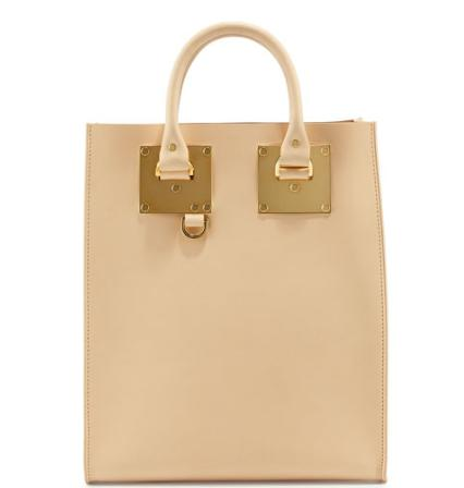 Sophie Hulme Albion Mini North-South Tote Bag, Nude @ Neiman Marcus