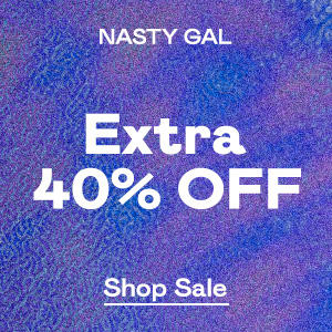 EXTRA 40% OFF all markdowns now through July 5th @ Nasty Gal
