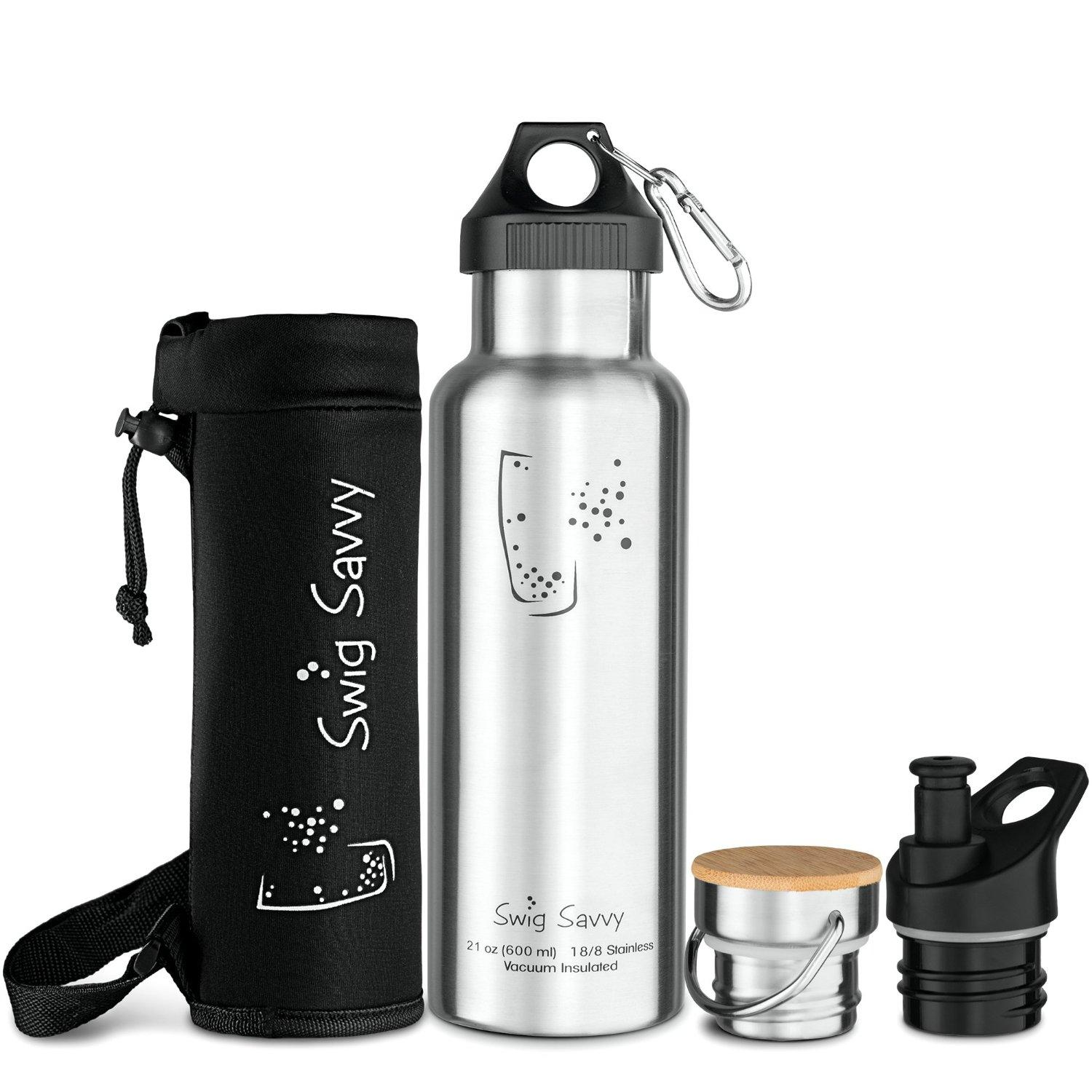 Swig Savvy's Stainless Steel Vacuum Insulated Water Bottle