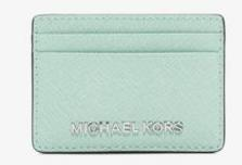 MICHAEL Michael Kors Jet Set Travel Metallic Saffiano Leather Card Case