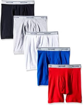 $5.79 Fruit of the Loom Boys' Boxer Brief (Pack of 5)