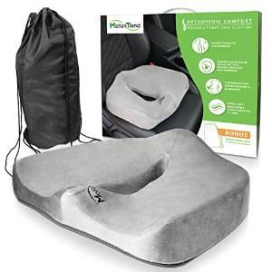 Motion Trend Seat Cushion - Anti-Slip Bottom & Water-Resistant Inner Cover (Gray)