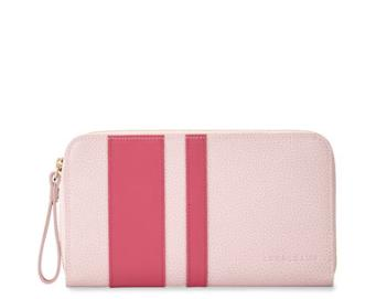 Longchamp Le Foulonne City Zip-Around Striped Wallet, Girl @ Neiman Marcus