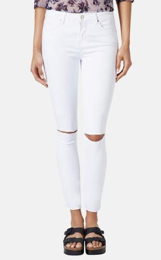 Topshop Moto 'Leigh' Distressed Skinny Jeans @Nordstrom