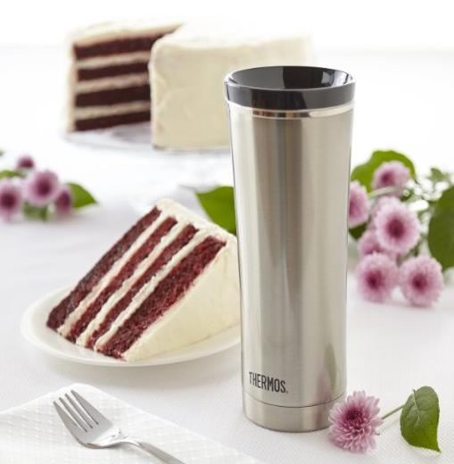 Thermos 16 Ounce Vacuum Insulated Travel Mug, Stainless Steel
