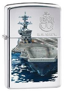 Zippo US Navy High Polish Chrome Lighters