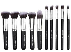 $8.49 Nestling® Makeup Brushes Premium Cosmetics Brush Set Synthetic Kabuki Makeup Brush, Foundation, Blending Blush, Eyeliner, Face Powder Brush Kit