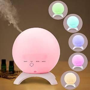 $14.44 STRONKER 350ml Globe Aromatherapy Essential Oil Diffuser 15 Color LED Lights Changing Ultrasonic Portable Aroma Diffuser Humidifier Mini Cool Mist Air Purifier up to 10 Hours Waterless Auto Shut-off
