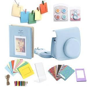 Minoniso 7-in-1 Fujifilm Instax Mini 8 Camera Accessory Set Bundle with Camera Case, Book Album, Color Lens Set, Selfie Lens, Wall Hanging Frames, Film Frame and Stickersilm Frame and Stickers : Camera & Photo