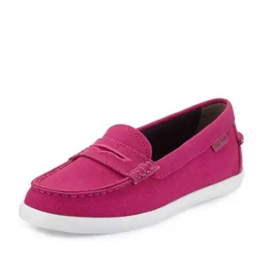 Cole Haan Nantucket Canvas Loafer, Fuchsia Red @ Neiman Marcus
