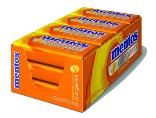 $10.42 Mentos Sugar-Free Breath Mints, Orange Mint, 1.27 Ounce (Pack of 12)