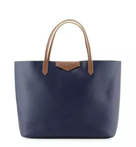 Givenchy Antigona Large Leather Shopper Bag, Dark Blue @ Bergdorf Goodman