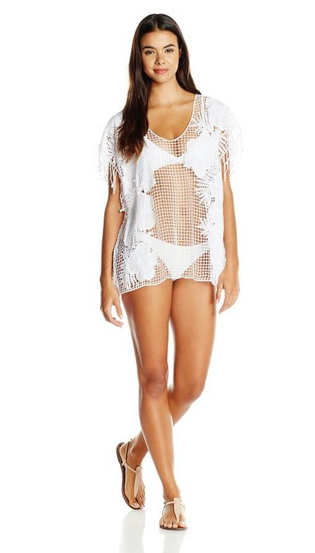 Seafolly Women's Lace Works Kaftan Cover Up