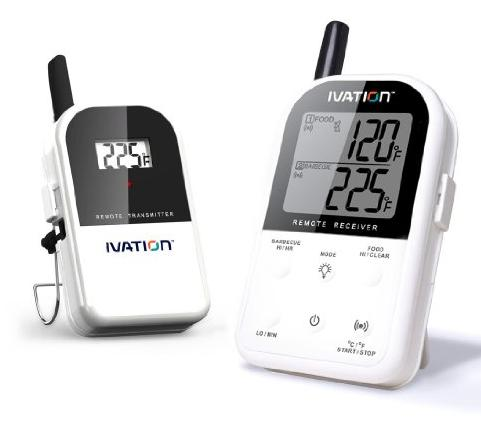$43.99 Ivation Long Range Wireless Thermometer - Dual Probe - Remote BBQ, Smoker, Grill, Oven, Meat Thermometer - Monitors Food From Up To 300 Feet Away