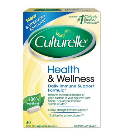 $12.7Culturelle Health and Wellness Supplement Probiotic, Once Daily Capsules, 30 Count