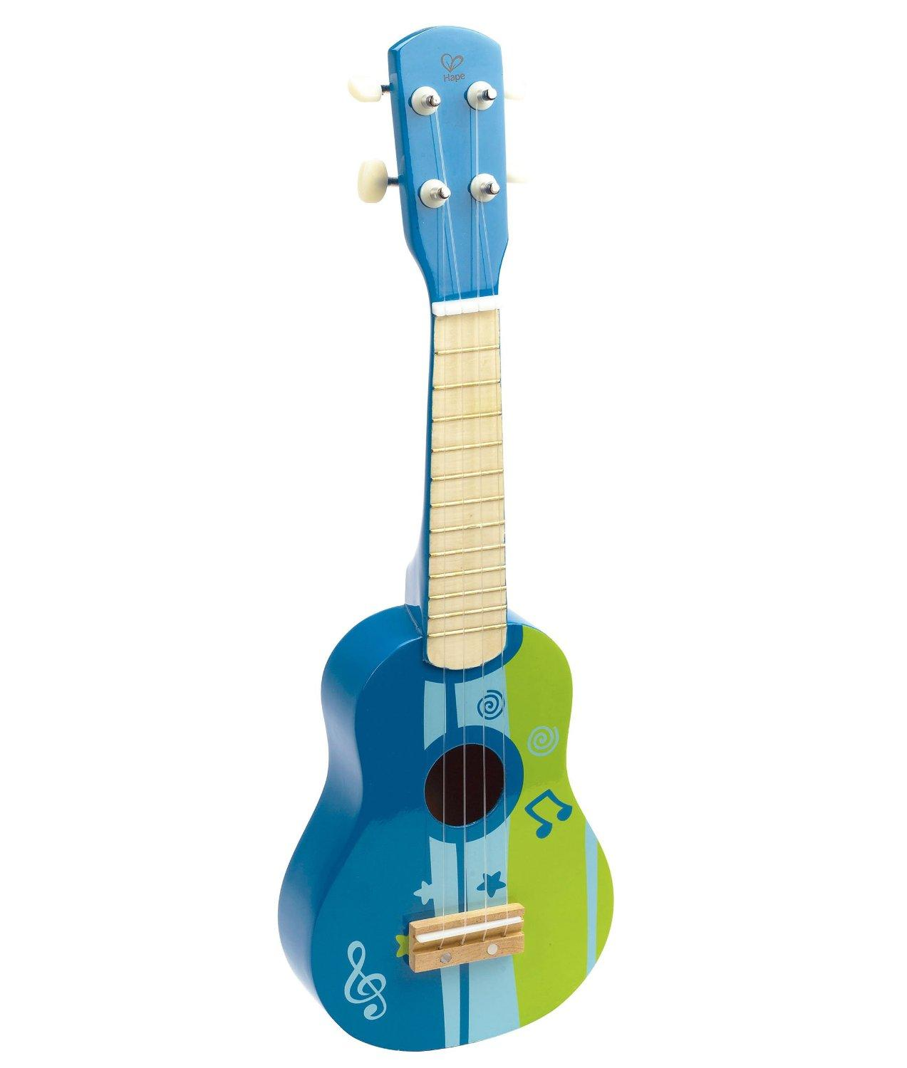 Hape - Early Melodies - Blue Ukulele Wooden Instrument
