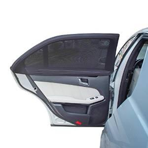 TFY Universal Car Side Window Sun Shade - Protects Your Kids from Sun Burn - Double Layer Design