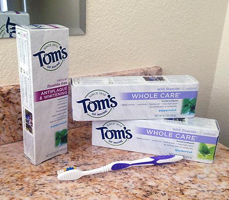 $4.08 Tom's of Maine Whole Care Fluoride Gel, Spearmint, 4.7 oz., 2 Count