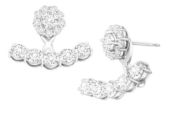 $24 Floater Earrings with Cubic Zirconia