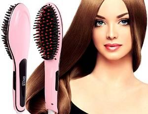 Epique Beauty Hair Straightener Brush - Electric Detangling Hair Comb