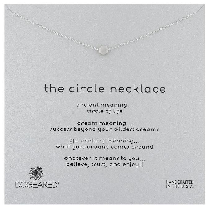 """$38 Dogeared Karma The Circle Necklace Gold-Plated Silver, 16"""""""