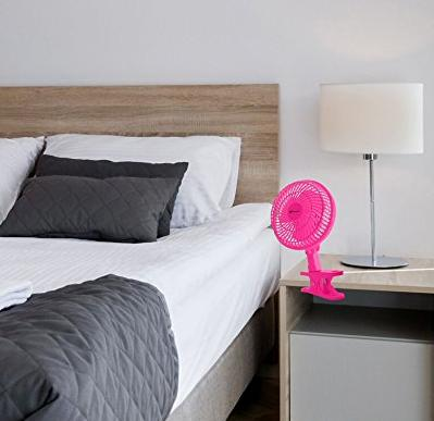 Avalon 6-Inch Clip-On Fan - Convertible Table-Top & Clip Fan, Fully Adjustable Head